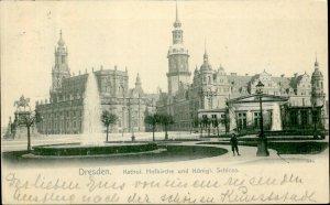 IMV01508 germany dresden catholic cathedral church royal castle postcard 1905
