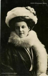Grand Duchess Maria Pavlovna of Russia, Duchess of Södermanland, Hat (1909) RPPC