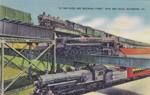 RICHMOND, Virginia; Is two over one railroad fare? 16th and Dock, Trains, 30-4