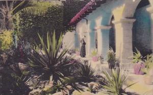 In A California Mission Garden Los Angeles California 1937