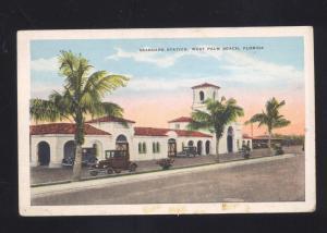 WEST PALM BEACH FLORIDA SEABOARD RAILROAD STATION TRAIN