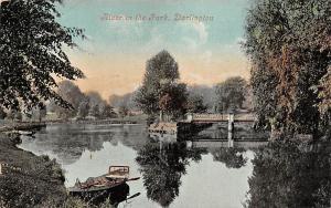 England Darlington River in the Park, Boat, Souvenir