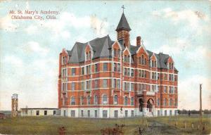 Oklahoma City Oklahoma Mt St Marys Academy Exterior Antique Postcard K20151