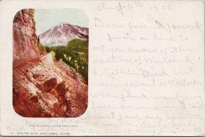 The Palisades Alpine Pass CO Colorado c1908 RPO Virginia City ?? Postcard F79