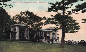 MONTREAL, Quebec, Canada, 1900-1910s; New Lookout On Mount Royal