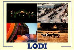 Lodi CA various Scenes Postcard unused Modern
