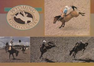 Wyoming Rodeo Country Bareback Bronco Riding