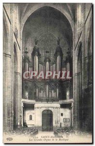 Old Postcard Organ Saint Maximin The great organ of the Basilica