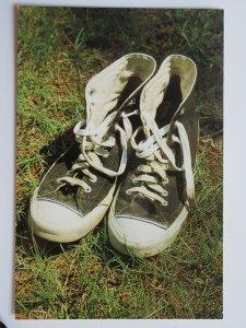 """Hightops"" Pair of Shoes Vintage Chrome Postcard"
