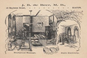 TC ; BOSTON , Massachusetts ,1890s ; J.B. de Beer, M.D. ; Mechanical Massage