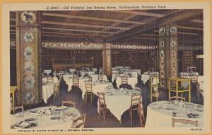 Yellowstone National Park, Wyo., Old Faithful Inn Dining Room -