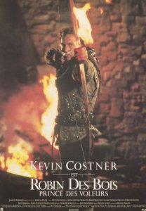 Kevin Costner Robin Hood Prince Of Thieves French Film Poster Postcard