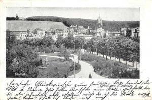 Wiesbaden Germany Nerothal Gruss aus Antique Postcard J60930