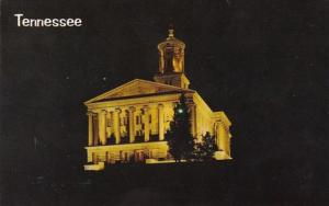 Tennessee Nashville State Capitol Building At Night