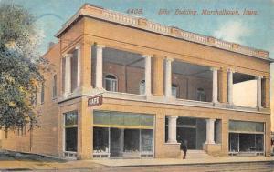Marshalltown Iowa Elks Building Street View Antique Postcard K32400