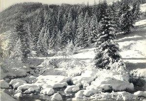 Postcard France neige et soleil