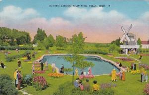 Iowa Pella Sunken Garden At Tulip Time