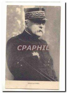 Postcard Former Army General Pau