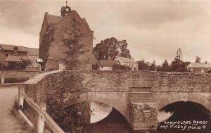 EARDISLAND HEREFORDSHIRE UK BRIDGE~PIGEON HOUSE~W A CALL REAL PHOTO POSTCARD