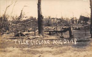 Tyler Minnesota~Cyclone~Home Damage~August 21 1918 Tornado~Vadheim Drug Pub~RPPC