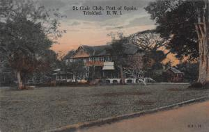 St. Clair Club, Port of Spain, Trinidad, B.W.I., Early Postcard, Unused