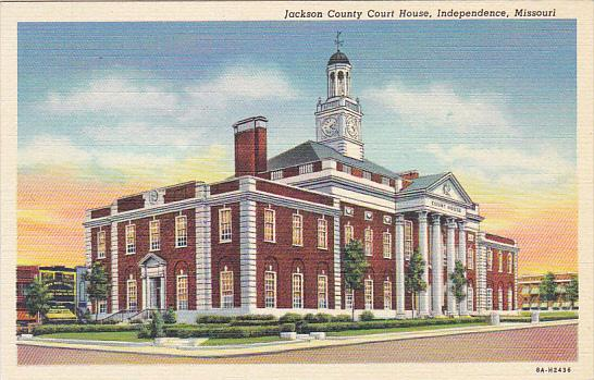 NMissouri Independence Jackson County Court House Curteich