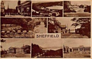 SHEFFIELD YORKSHIRE ENGLAND~MULTI IMAGE PHOTO 1910-20s R SNEATH POSTCARD