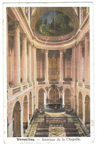 France Versailles Palace Interieur La Chapelle Postcard