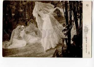 264258 Nude NYMPH Dance by DELUC Vintage SALON 1910 year PC