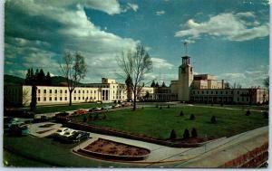 Santa Fe, New Mexico Postcard STATE CAPITOL Street View Chrome w/ 1957 Cancel