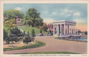 Coles Hill And Portico Over Plymouth Rock Plymouth Masaachusetts