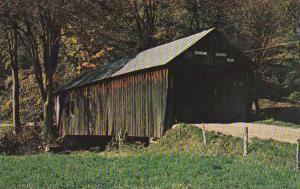 Covered Bridge Tunbridge Old Covered Wood Bridge Known As The Cilley Bridge V...