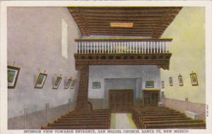 New Mexico Santa Fe Interior View Towards Entrance San Miguel Church