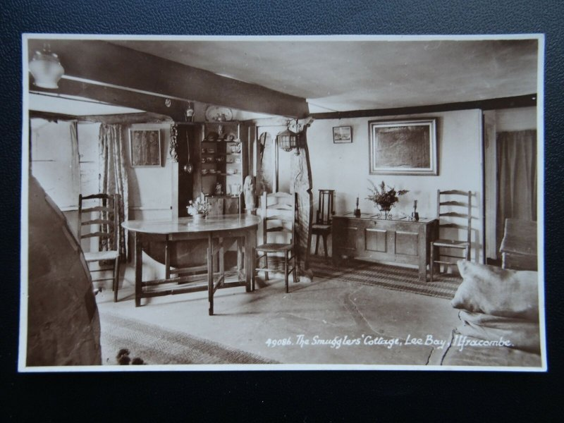 Devon Ilfracombe THE SMUGGLERS COTTAGE at Lee Bay - Old RP Postcard by E.A.S.