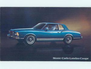 Unused 1978 car dealer ad postcard MONTE CARLO LANDAU COUPE o8092@