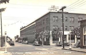 Fort Pierce FL Hotel Street View Old Cars RPPC Postcard