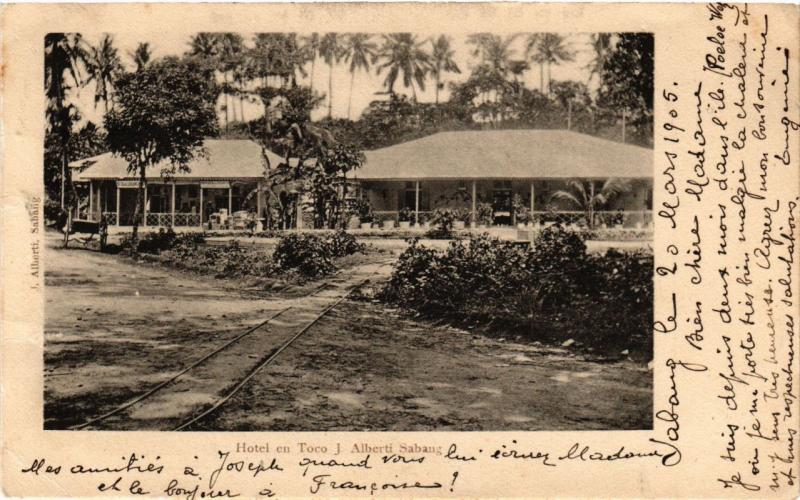 INDONESIA PC DUTCH INDIES Hotel en Toco J. Alberti Sabang Sumatra (a1542)