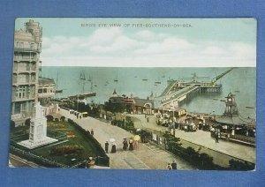Vintage Postcard Bird's Eye View Of The Pier Southend-On-Sea   I1