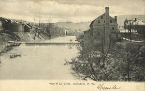 Clarksburg, W.Va., View of Elk Creek (1906) Postcard