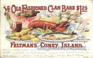 Feltmans Coney Island, NY USA 1908 internal creases