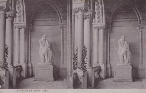 Stereoscope Postcard ; A Statue , EATON HALL , England , 00-10s ; TUCK 2225