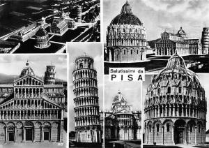 Italy Salutissimi da Pisa, Leaning Tower Basilica Aerial view, Basilique Tour