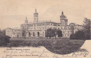HANNOVER, Lower Saxony, Germany, PU-1899; Technifche Gochichule, Railway Canc...