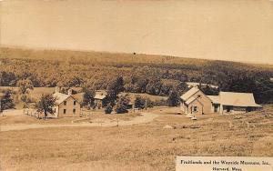 Harvard MA Fruitlands and Wayside Museum Shakers RPPC Postcard
