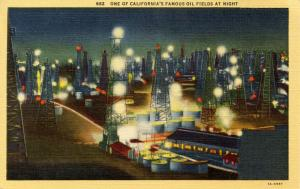 CA - Southern California Oil Field at Night