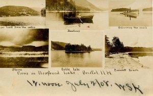 NH - Bristol. Views on Newfound Lake, 1908. RPPC