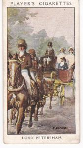 Cigarette Card Player's Dandies No 36 Lord Petersham