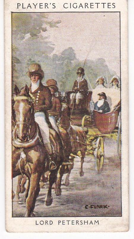 Cigarette Card Player's Dandies No 36 Lord Petersham