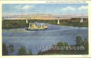 Lorain Central High Level Bridge Lorain OH 1951