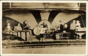 Music - Lehr Family Orchestra Children on Stage Real Photo Postcard